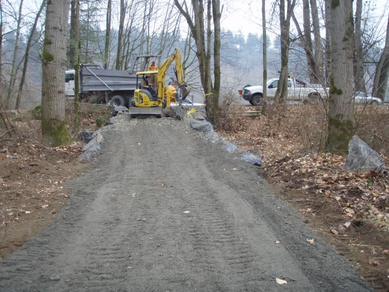 North Green River Park river access road