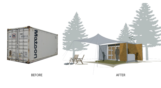 Little footprint big forest project update thanks matson king county parks plog - Matson container homes ...