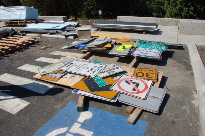 Upcycled road signs