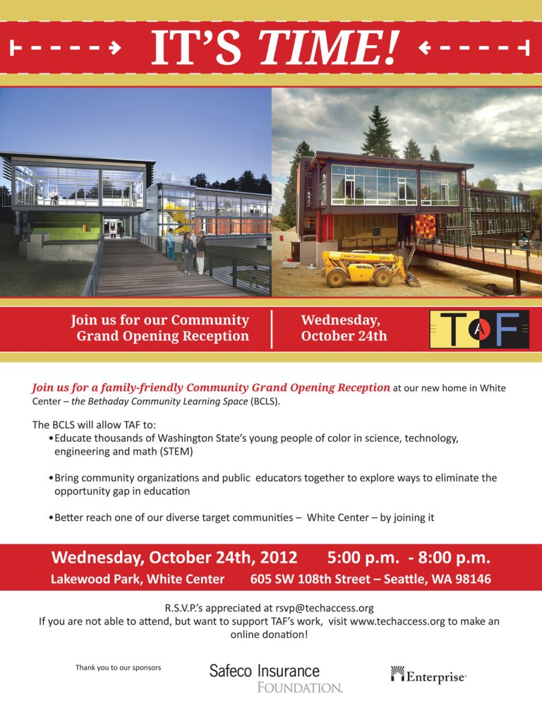 TAF invite flyer