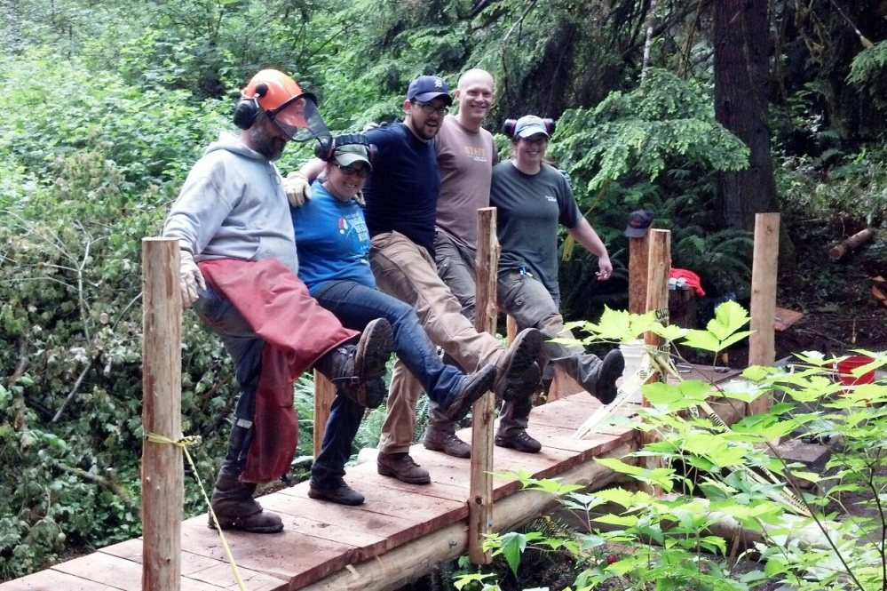 Our Backcountry Trails Crew does a happy dance