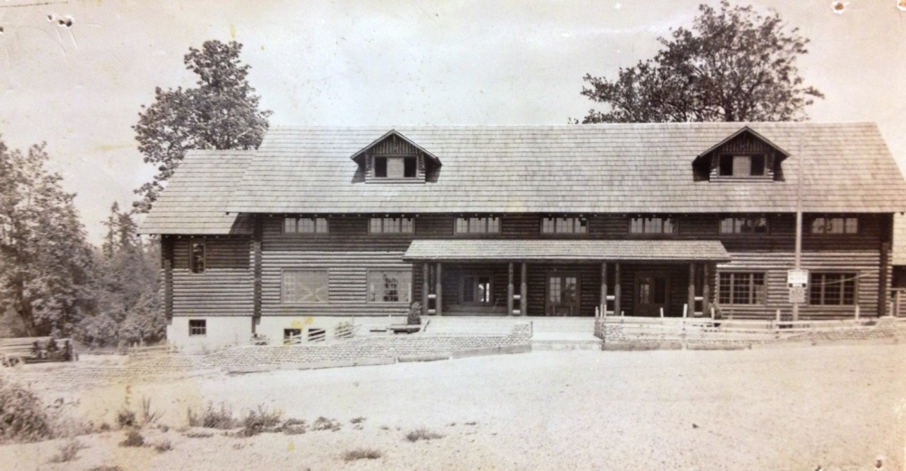 White Center Fieldhouse (a.k.a. the Log Cabin) circa 1940