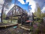 Repairs in progress on Meadowbrook Bridge