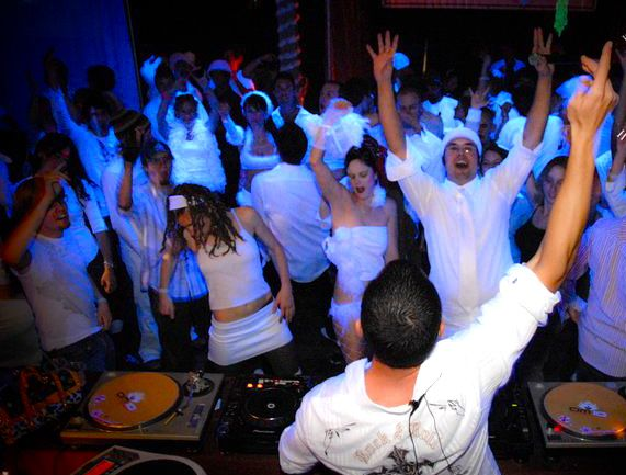 White Party Crowd