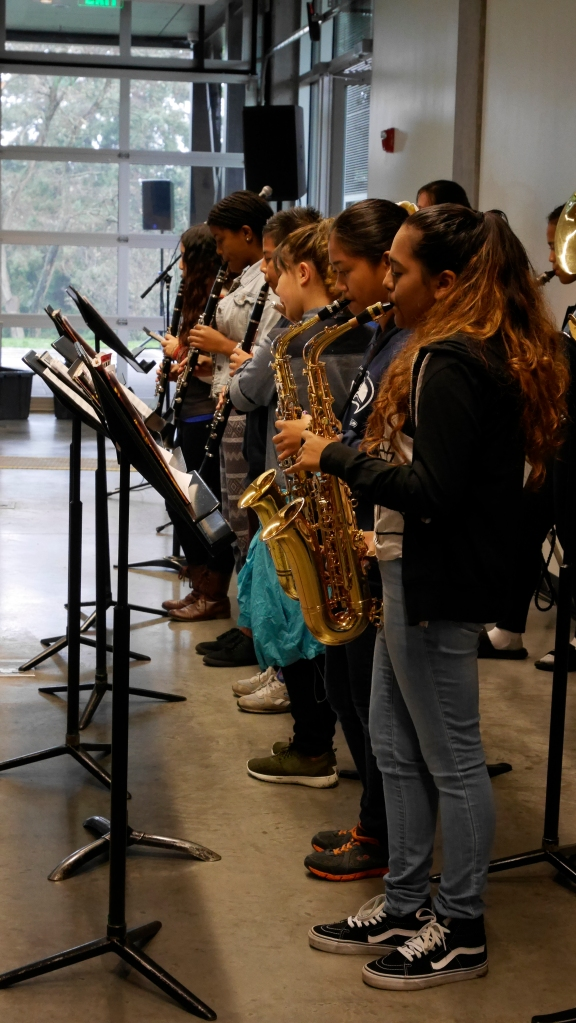 Students from Cascade International Band kicked off the afternoon with some jazzy tunes.