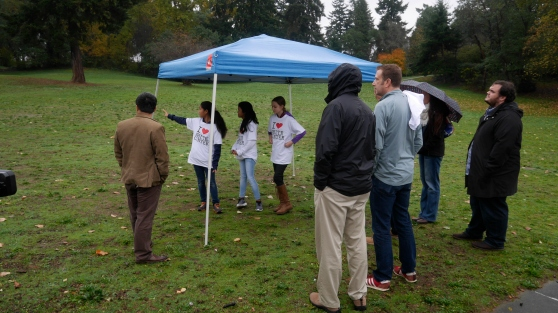 Members of Cascade Middle School's Drug and Alcohol Prevention Team facilitated tours of the park, a popular destination for Disc golf. The students informed us that there is still a lot of work to do - last week  they picked up a whopping 667 cigarette butts.