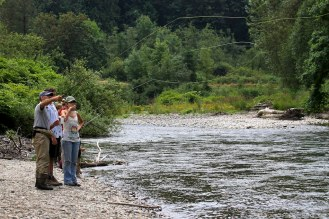 Fishing at Cavanaugh Pond