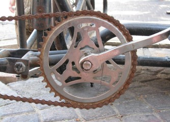 Rusty bike gears