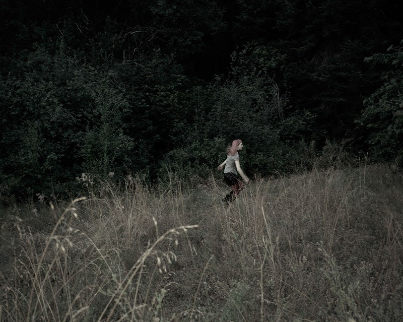 "Jenny Riffle, Running Through the Meadow, 2010, 24""x30""digital pigment print"