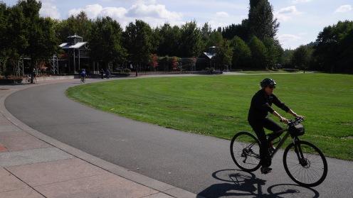 biker at Wilmot Park