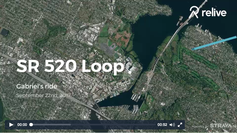 SR 520 Loop Ride on Relive