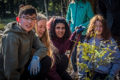 Students from Environmental and Adventure School